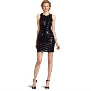 BcbgMaxAzria | Nera black sleeveless sequin dress